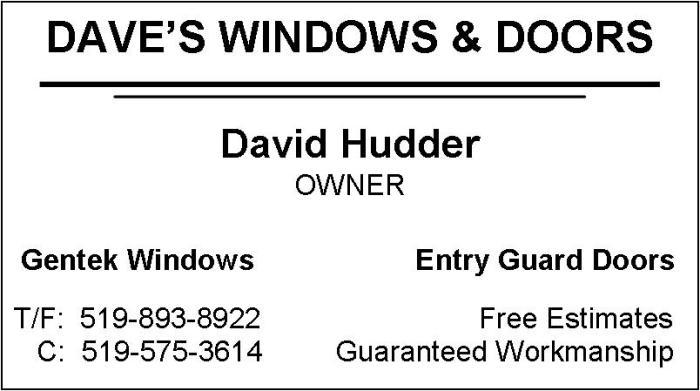 Dave's Windows & Doors
