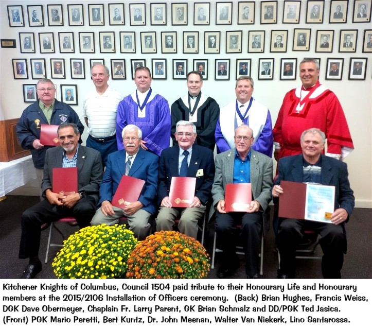2015 Honorary and Honorary Life