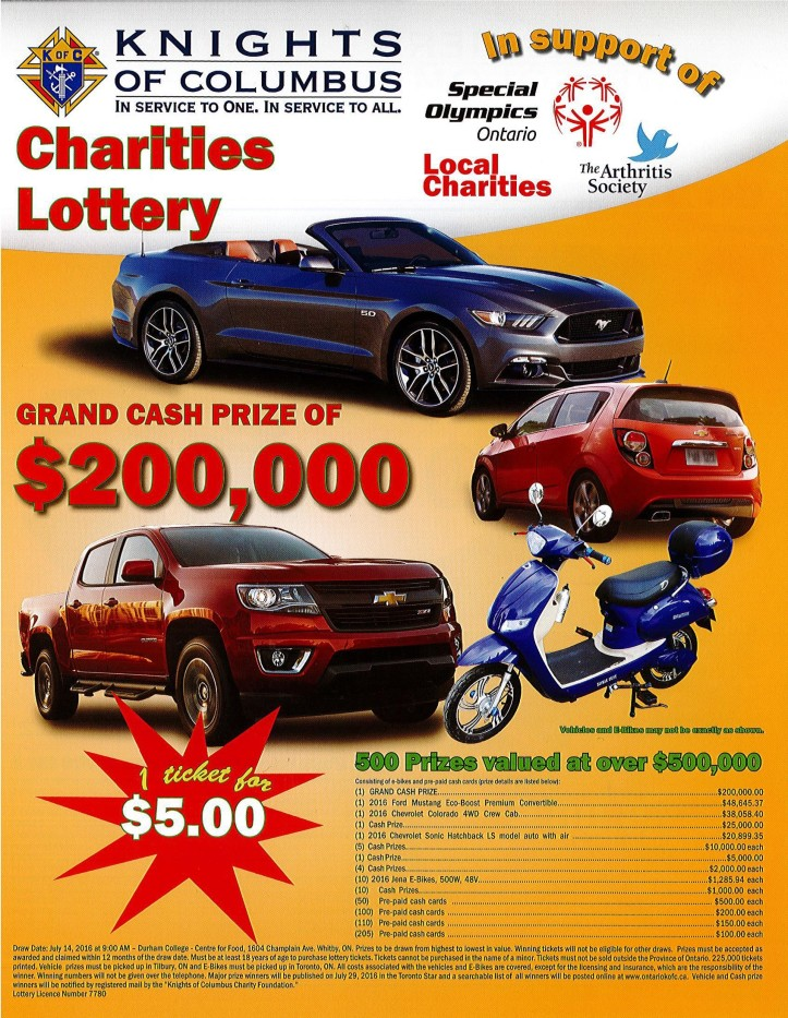 Charity Lottery 2016